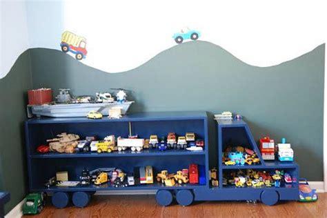 chambre garcon peinture etagère camion pour chambre de garçon