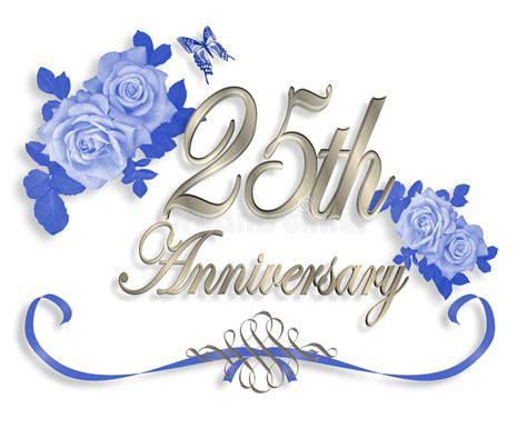 25th Wedding Anniversary Invitation Stock Illustration