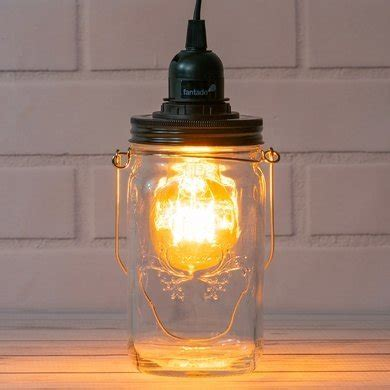 Mason Jar Pendant Light Kit Wide Mouth Black Cord