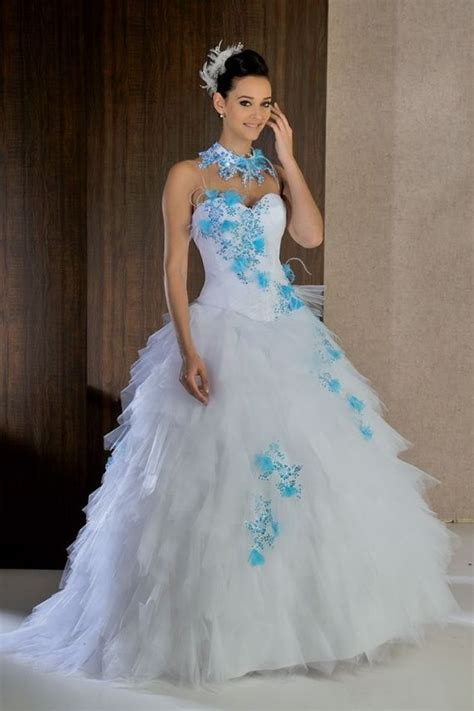 robe mariage bleu