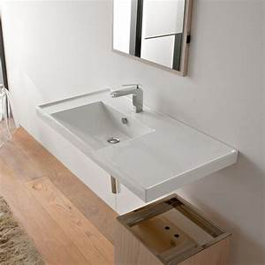 Contemporary Rectangular Self Rimming or Wall Mounted Sink