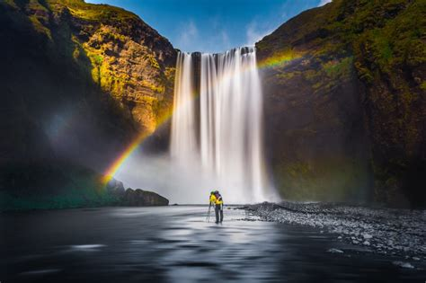 Free Waterfall Photo by Waterfall Rainbow Landscape Free Stock Photo Iso Republic