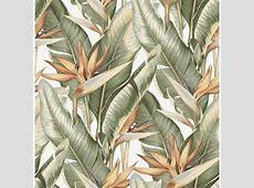 Kenneth James Arcadia Light Green Banana Leaf Wallpaper