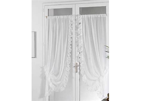paire de rideaux bonne femme voile plein jour blanc rideau bonne femme