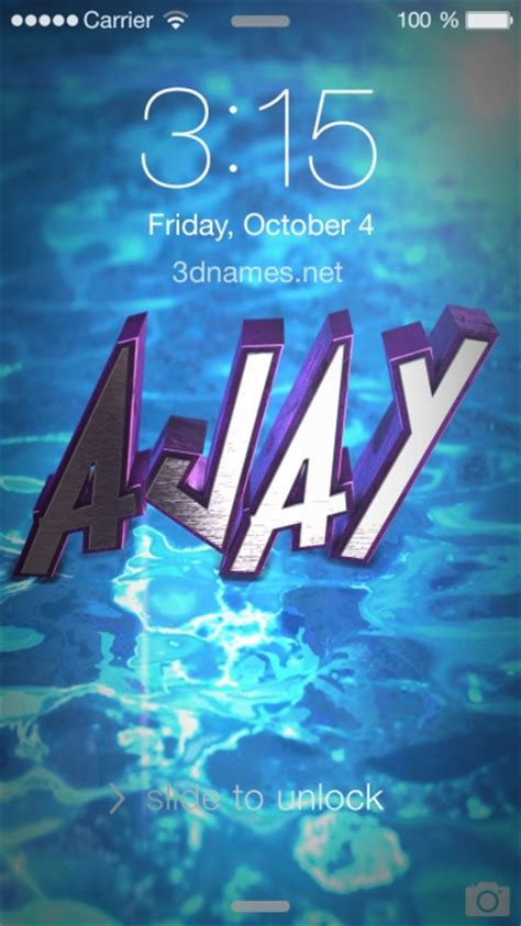 Ajay 3d Name Wallpapers Animations - preview of water 2015 for name ajay