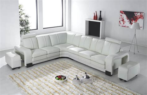 canape d angle relax deco in canape d angle en cuir blanc avec appuie