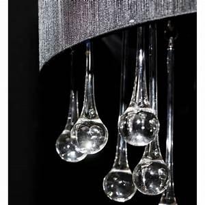 Lustre Pampilles Cristal : acheter lustre moderne plafonnier 3 feux 85 pampilles cristal noir pas cher ~ Teatrodelosmanantiales.com Idées de Décoration