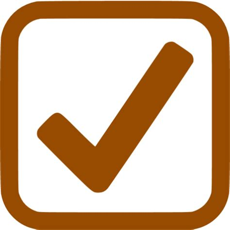 brown checked checkbox icon free brown check mark icons