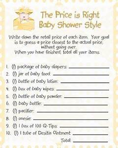 free printable price is right baby shower game template - the price is right baby shower game little slugger