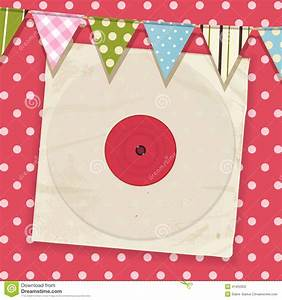 Vintage Record And Sleeve With Bunting On A Pink Polka Dot ...