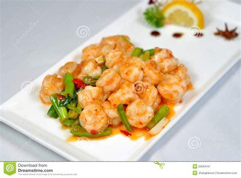 cuisine crevette cuisine chinoise crevette frite photographie stock libre de droits image 20094167