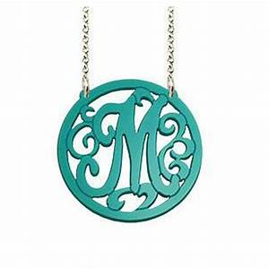 Acrylic monogram necklace long chain be monogrammed for Acrylic letter necklace