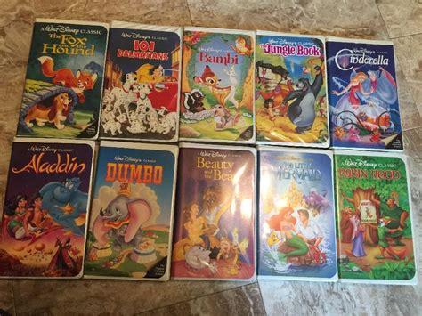Disney Vhs Lot Of 10 Beauty And The Beast Aladdin Dumbo