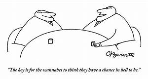 Two Businessmen Speak To Each Other by Charles Barsotti