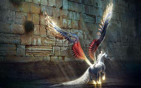 fantasy, Pegasus, Horse, Animal, Art, Artistic, Artwork ...