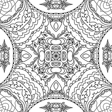 illustrazione gratis mandala linea arte bianco  nero