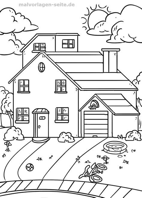 Malvorlage Haus Mit Garten  Gratis Malvorlagen Zum Download