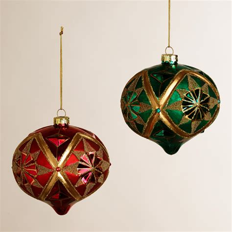 gold glass onion ornaments set of 2 world market