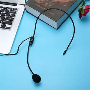 Mini Portable Head Microphone Lightweight Condenser 3 5mm