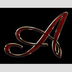 Alphabet A Name Wallpaper