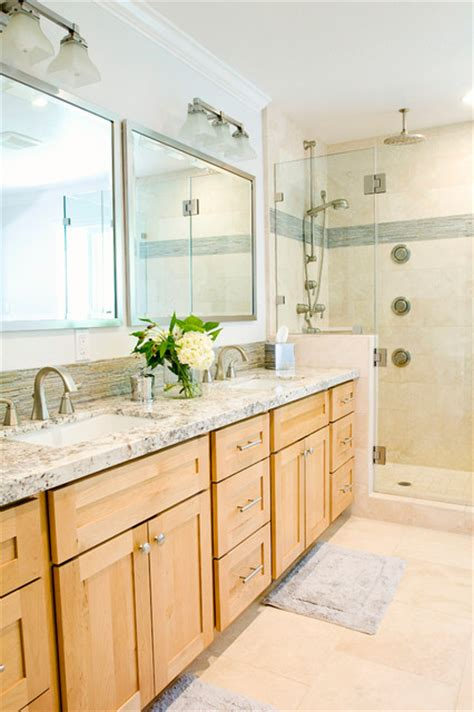 Light Colored Granite For Bathroom by Modern Master Bathroom Transitional Bathroom