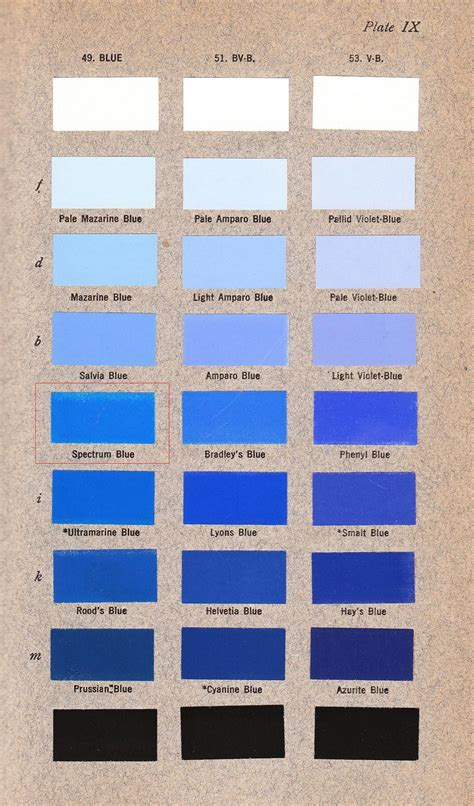 blue color spectrum spectrum blue ridgway color standards and color
