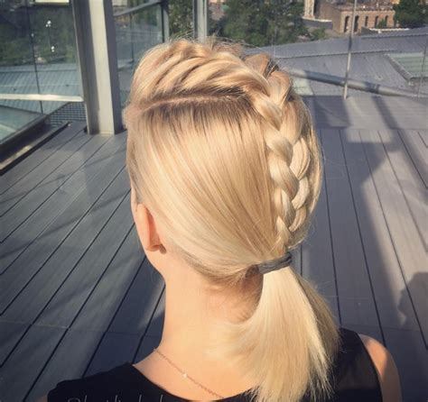 french braid ponytail haircut ideas designs hairstyles design trends premium psd