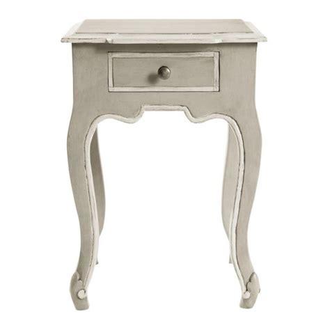 déco chambre bébé vintage table de chevet avec tiroir en manguier grise l 40 cm