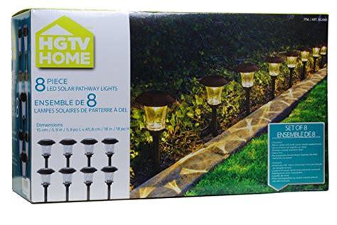 hgtv solar led pathway lights 8 pack new ebay
