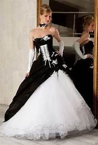 new blackwhite taffeta sexy wedding dress bridal ball With sexy black wedding dress