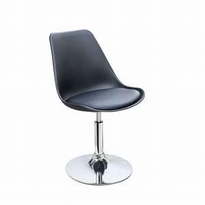 Chaise Noire Salle A Manger : chaise pied tulipe chrome ~ Teatrodelosmanantiales.com Idées de Décoration