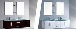 Vasque pour salle de bain best double vasque salle de for Salle de bain design avec vasque en verre castorama