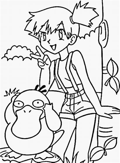 Coloring Pages Pokemon Misty Develop Creativity Recognition