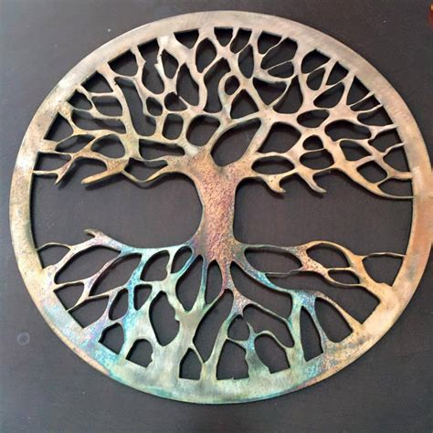 tree wall decor ebay custom tree of metal wall decor copper color has