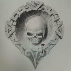 Aztec Skull Drawings