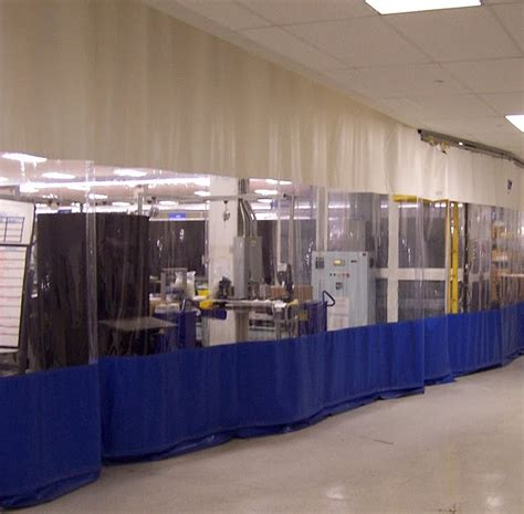 industrial curtains screens plastic safety barrier walls
