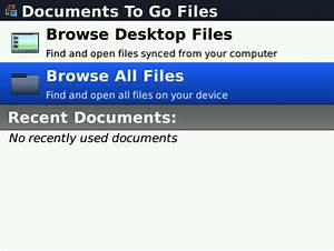 Documents to go for blackberry review crackberrycom for Documents to go manual
