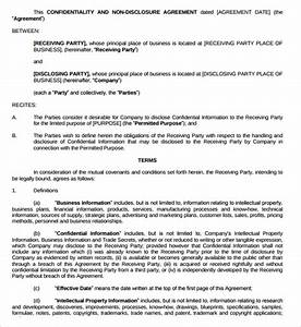 sample generic confidentiality agreement template 9 With generic nda template