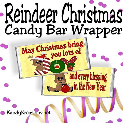 You can get free printable valentine's day candy bar wrappers here. Reindeer Christmas Candy Bar Wrapper Free Printable | DIY Party Mom