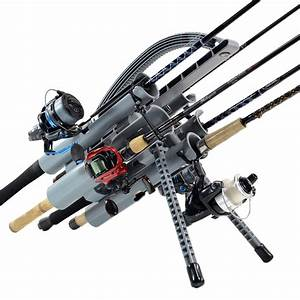 Pro 5  Gray Portable Fishing Rod Rack And Rod Holders