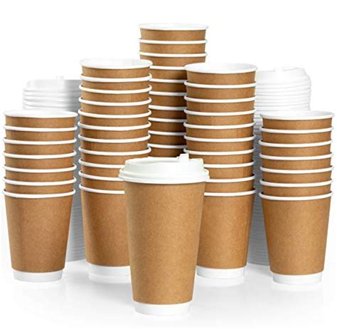 It's an issue that paper cup manufacturers have struggled with for decades. 50 Pack of Disposable Coffee Cups with Lids - 16 oz Double ...