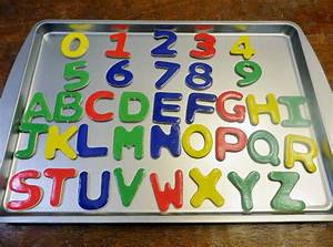 huge cookie sheet learning activity center w wooden With wooden magnetic letters and numbers