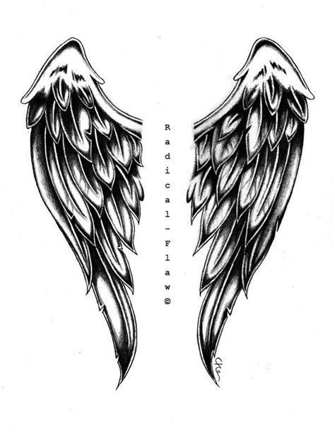 angel wing drawings | Angel Wings by RadicalFlaw | Wing tattoo designs, Wings drawing, Tattoos