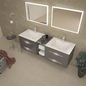 Sonix 1500 Wall Hung Double Basin Vanity Unit Grey Buy