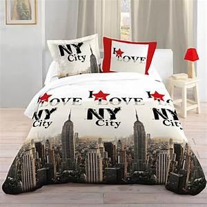 La housse de couette new york un beau style pour la for Chambre à coucher adulte avec housse couette new york 220x240