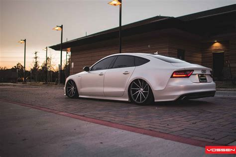 Slammed Audi A7 Looks Sharp On Vossen Directional Wheels