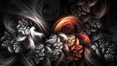 Flowers Dark Desktop Abstract Painting Wallpapers Fractal