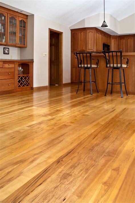 brown maple hardwood floors   dining room