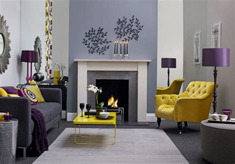 Wohnzimmer Grau Lila by Grey Living Room Purple And Ochre Living Room