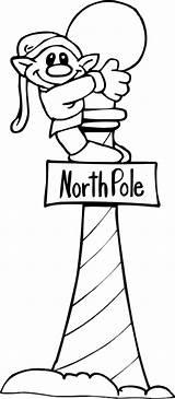 Pole North Coloring Elf Printables sketch template